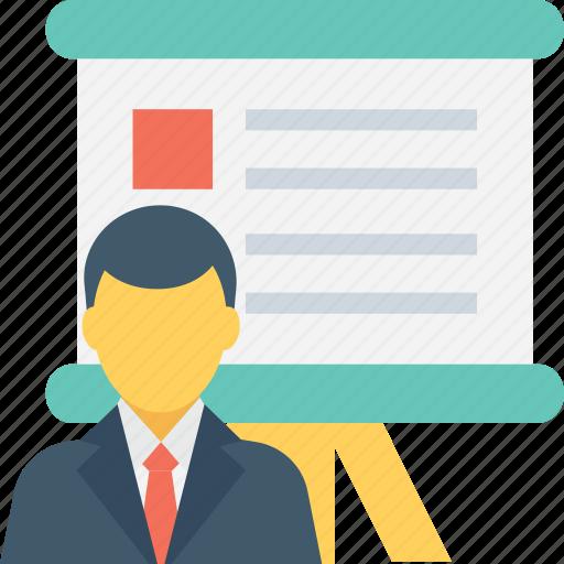 board, classroom, lecture, presentation, training icon