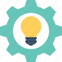 cogwheel, creative idea, generate idea, idea, invention icon