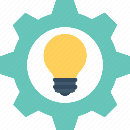 cogwheel, creative idea, generate idea, idea, invention icon