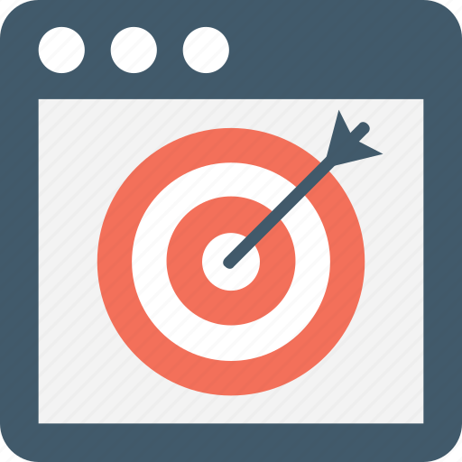 Aim, objective, target, crosshair, web icon
