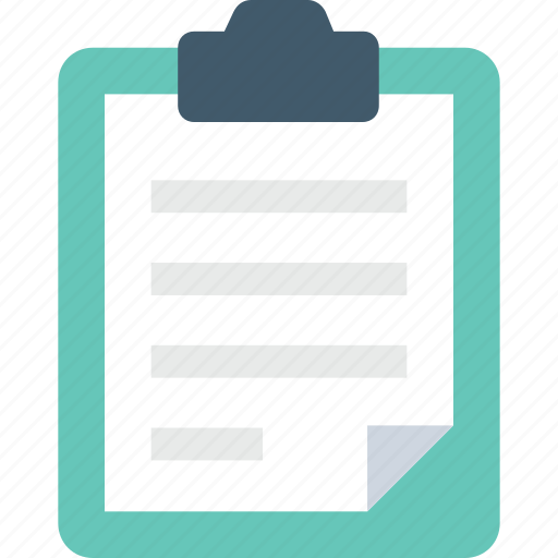 clipboard, list, memo, notation, notes icon