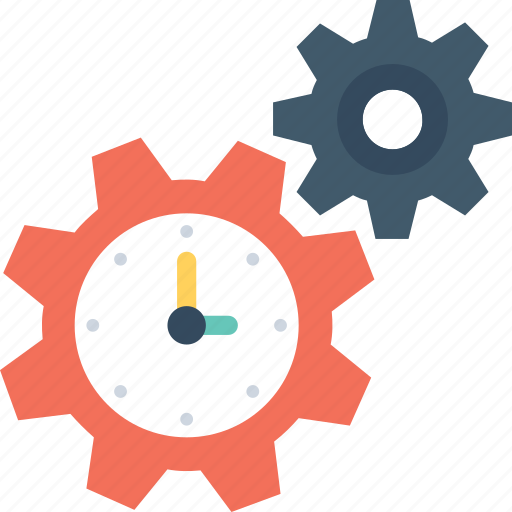 Cog, deadline, schedule, time, time management icon - Download on Iconfinder