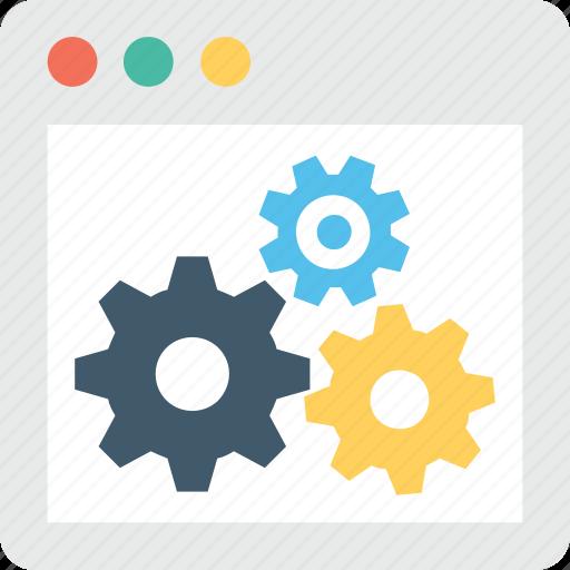 Cog, development, preferences, web setting, webpage icon - Download on Iconfinder