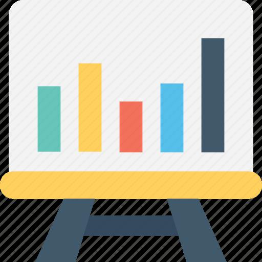 bar chart, graph, graph presentation, presentation, statistics icon