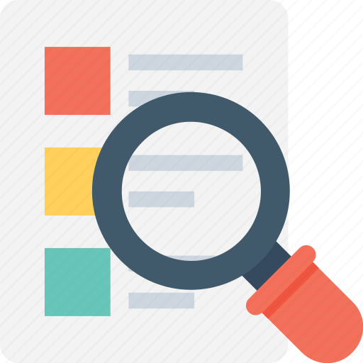 Checklist, find, list, magnifying, search memo icon - Download on Iconfinder