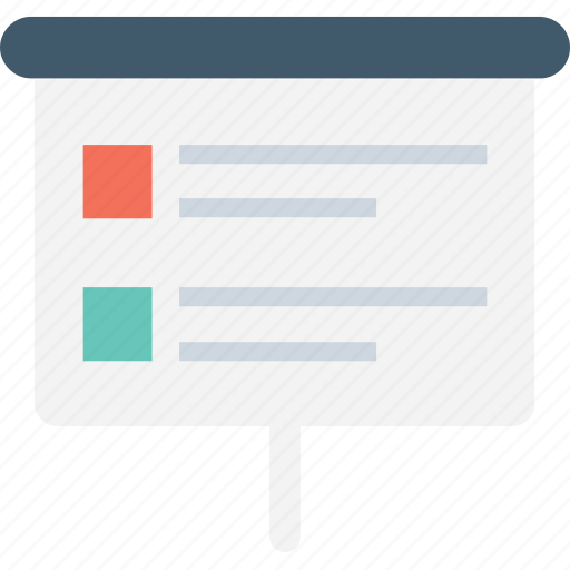 artboard, checklist, easel board, presentation, presentation board icon