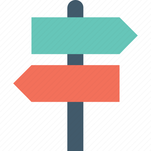 Direction arrows, direction post, finger post, guidepost, signpost icon - Download on Iconfinder