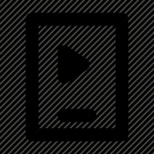 media, mobile, multimedia, player, video icon