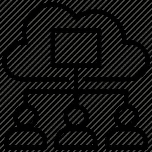 cloud computing, cloud connection, cloud network, cloud sharing, data cloud icon