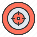 aim, objective, goal, precision