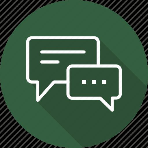 business, dialog, modern icon