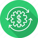 business, modern, project, revenue icon