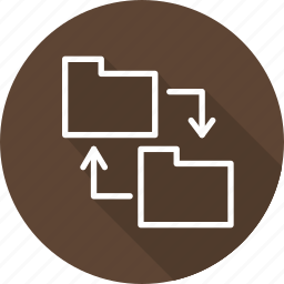 business, exchange, files, modern icon