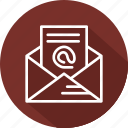 business, lists, mailing, modern icon