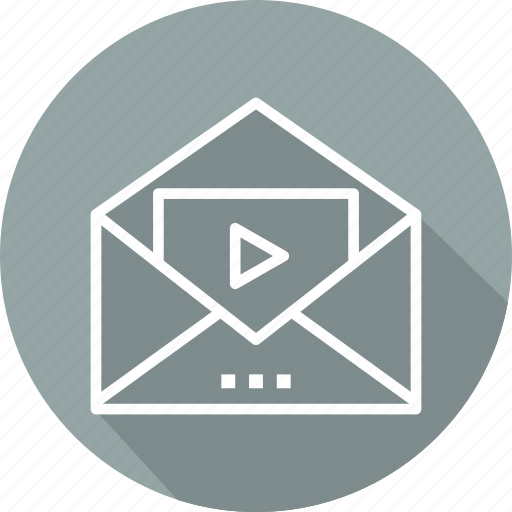 business, message, modern, video icon