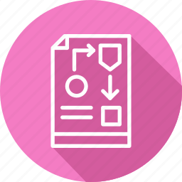 business, modern, process, workflow icon