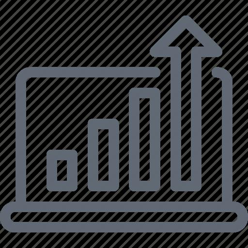 Analytics, bar chart, statistics, dollar, bar graph icon