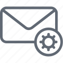 cog, email, email encryption, email settings, email setup icon