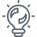 bulb, creative, idea, illumination, solution icon