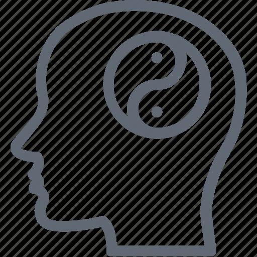 brain, creative mind, human mind, intelligent, man icon