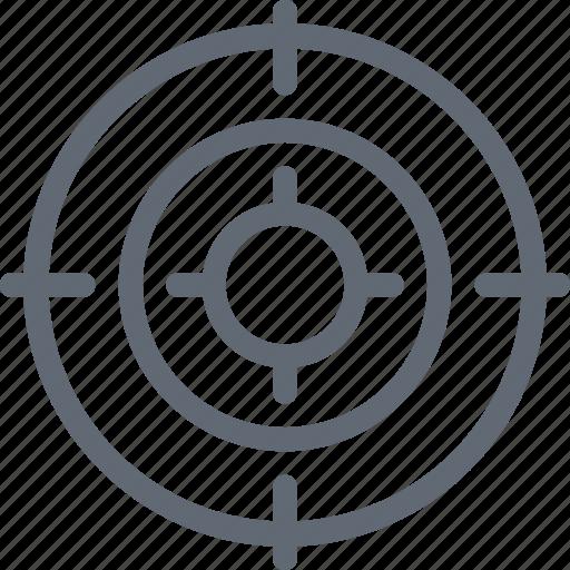 Bullseye, dartboard, target, crosshair, goal icon