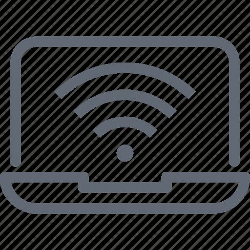 Globe, globe grid, laptop, internet connection, internet icon