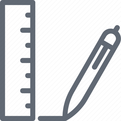 draft tools, drawing tools, pencil, ruler, scale icon