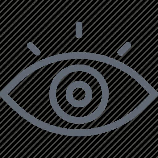 body organ, eye, human eye, look, view icon