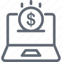 dollar, e commerce, money, online job, payment icon