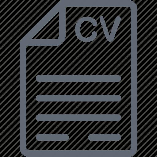 Job application, job profile, cv, curriculum, document icon