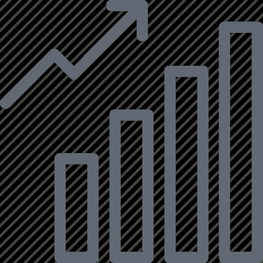 Business growth, bar chart, growth chart, analytics, statistics icon