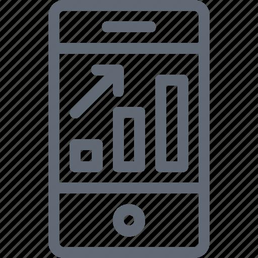graph, infographic, mobile, phone, statistics icon