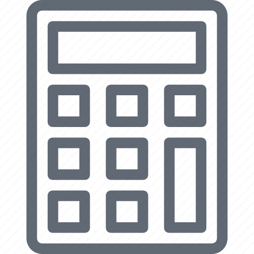 Calculation, accounting, calculator, digital calculator, mathematics icon