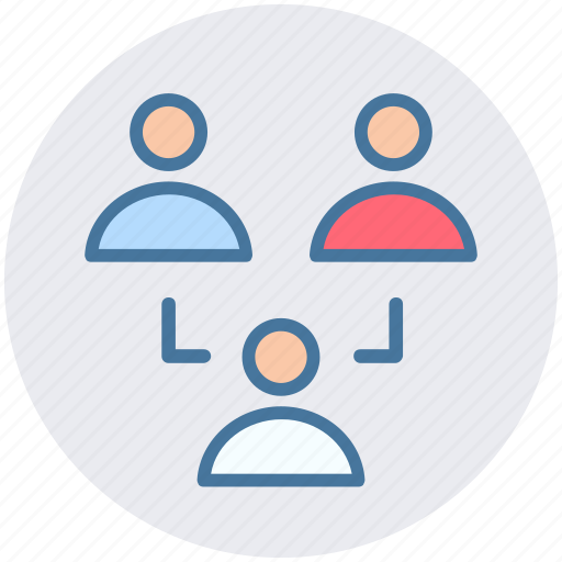 men, networking, social, staff, team, users icon