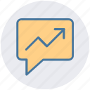 chat, conversion, graph, message graph, text icon