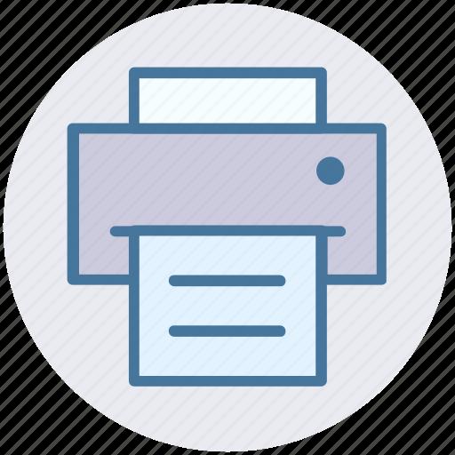 device, fax, output, paper, print, printer icon