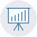 business graph, business presentation, graph, graph board, graph presentation, presentation board icon