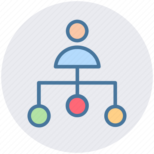 business man, connection, link, man, node, user icon