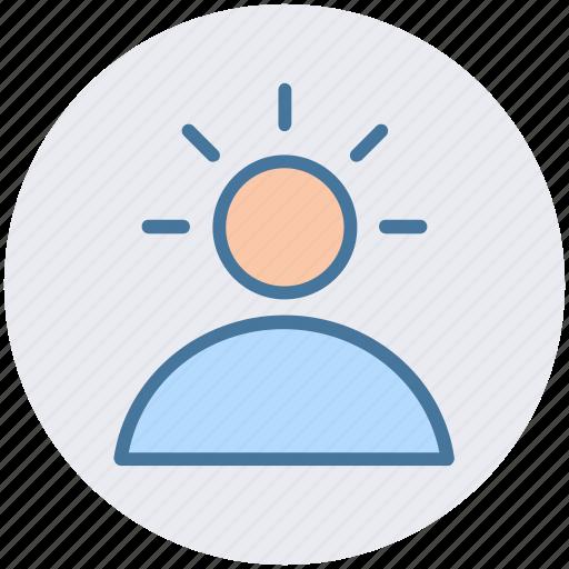 employee, human, idea, man, profile, user icon