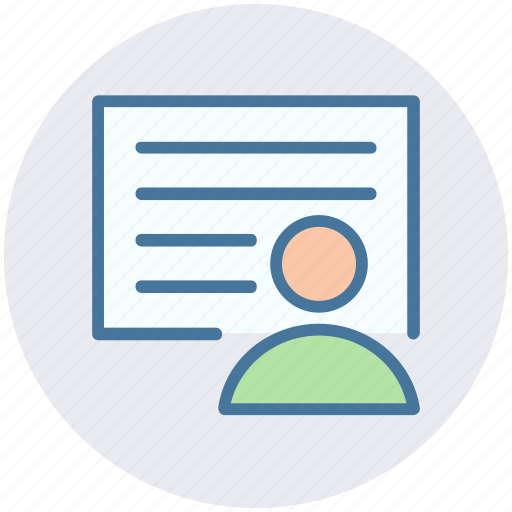 avatar, document, human, page, paper, user icon