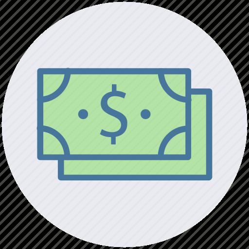 business, cash, dollars, money, payment, revenue icon
