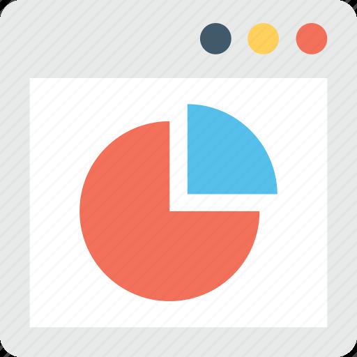 analytics, infographic, online graph, pie chart, pie graph icon