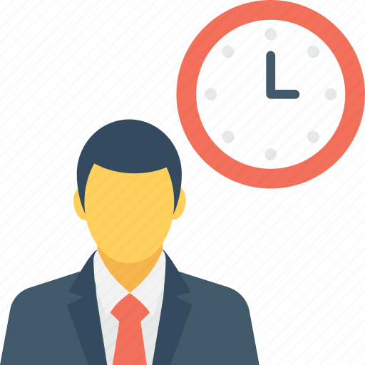 Businessman, schedule, appointment, deadline, time icon