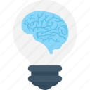 bulb, creative mind, head, innovative, intelligent icon