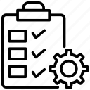 checklist, logistics order, order management, order processing, project management icon