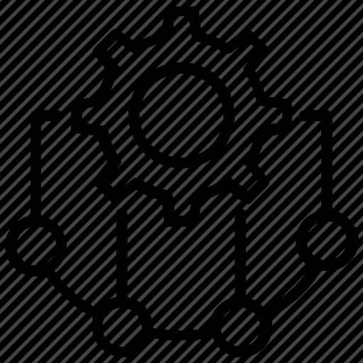 Cogwheel, crm, opportunity management, sales management, salesforce icon - Download on Iconfinder