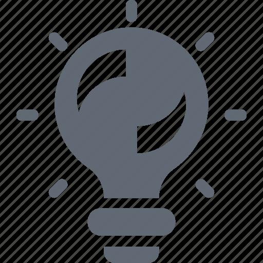 Idea, bulb, creative, solution, illumination icon