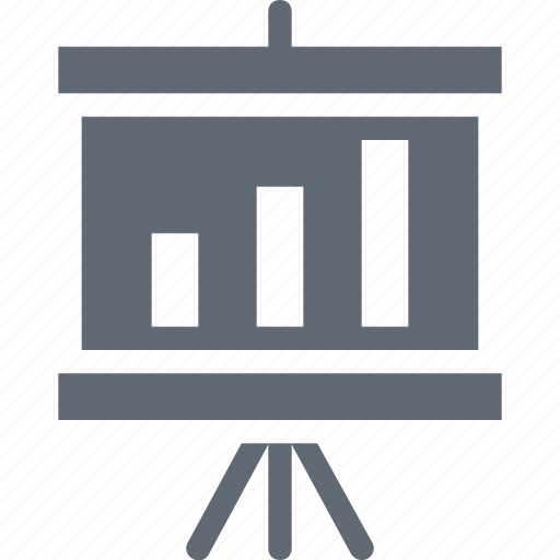 Presentation board, business presentation, chalkboard, easel, graph presentation icon