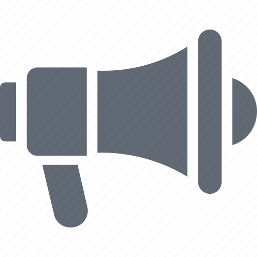 Loud hailer, announcement, megaphone, bullhorn, speaking trumpet icon