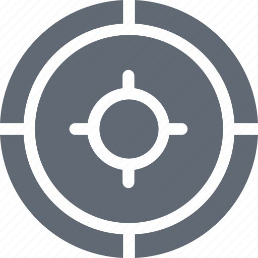 aim, crosshair, focus, shooting target, target icon